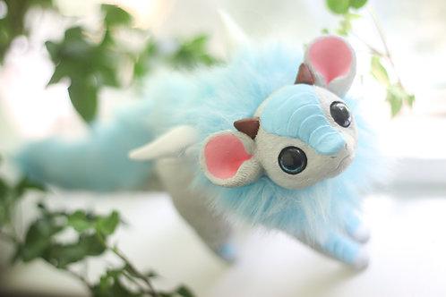 Handmade Posesable  Grey Mouse Dragon Art Doll