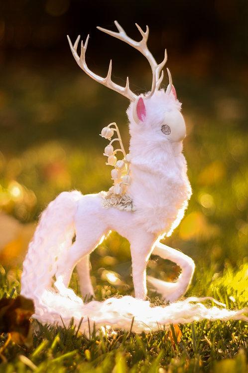 Handmade Poseable Ivory Spirit Art Doll