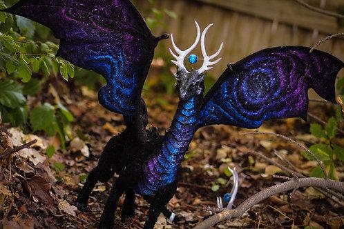 Handmade Poseable Space Dragon Art Doll