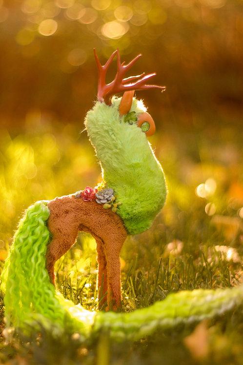 Handmade Poseable Succulent Spirit Art Doll