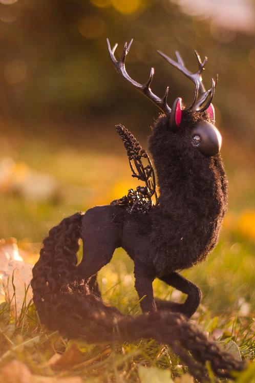 Handmade Poseable Obsidian Spirit Art Doll