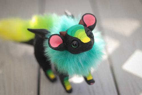 Handmade Posesable  Rainforest Mouse Dragon Art Doll