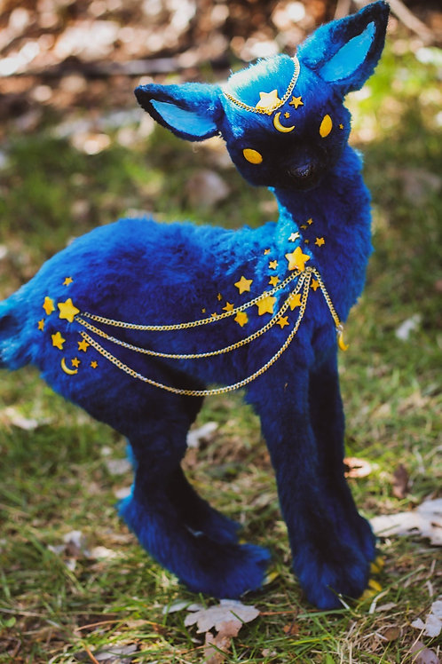 Handmade Poseable StarryNight Fawn Art Doll