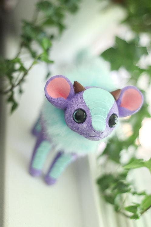 Handmade Posesable  Lavender Mint Mouse Dragon Art Doll