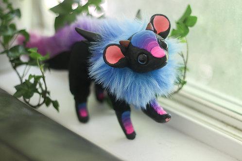 Handmade Posesable  Nebula Mouse Dragon Art Doll