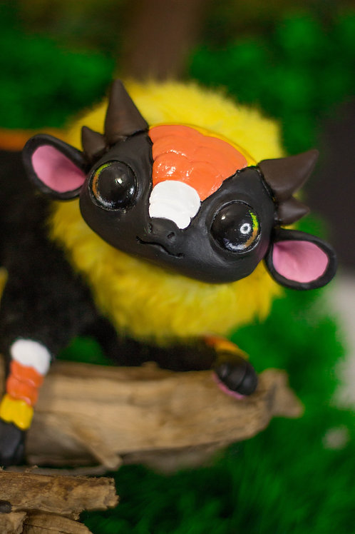 Candy Corn Chibi Dragon Art Doll