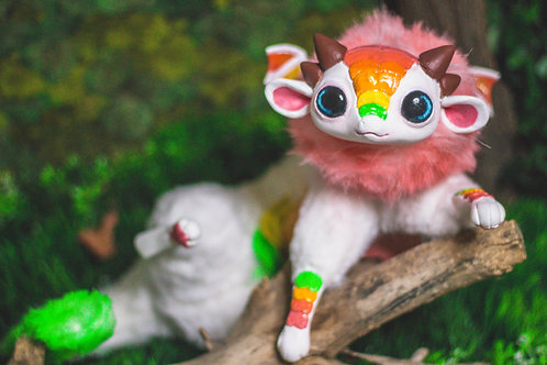 Citrus Chibi Dragon Art Doll