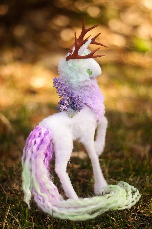 Handmade Poseable Lavender Spirit Art Doll
