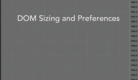 DOM sizing and preferences