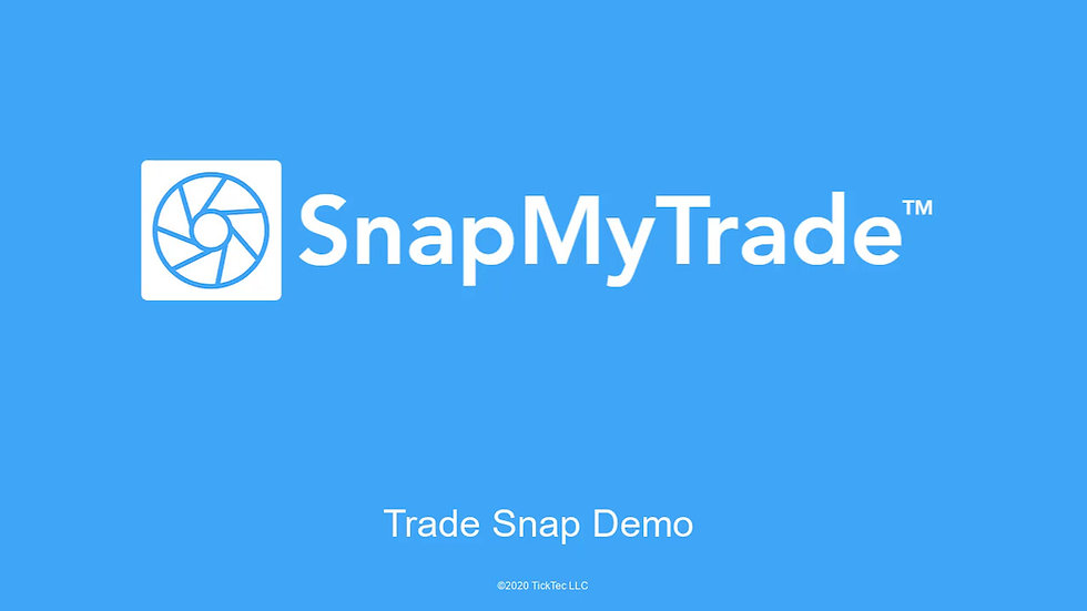 SnapMyTrade by TickTec will snap trade execution screenshots automatically or snap screenshots at intervals. This video demonstrates how to configure the trade snap feature.