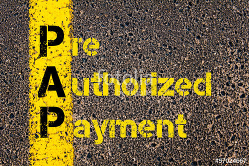 Pre-approved payments