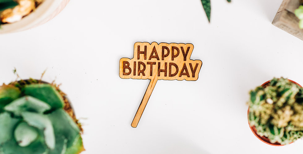 Happy Birthday Plant Stake