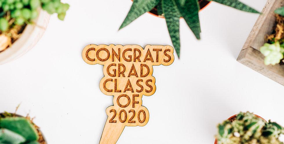 Congrats Grad 2020 Plant Stake
