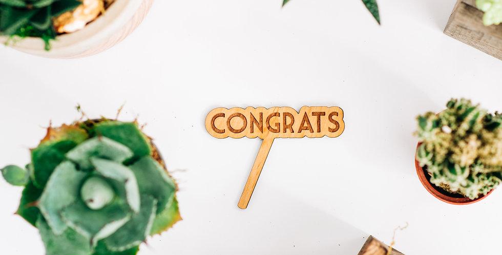 Congrats Plant Stake