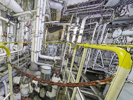 Engine room of a Vessel 1