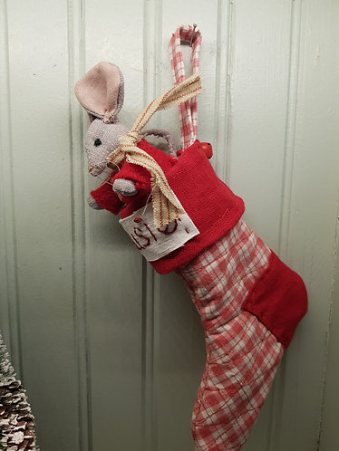 Christmas Mr Mousie in stocking