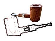 Cherrywood briar smoking pipe