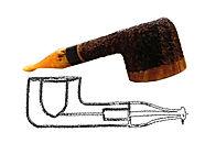 Pot briar smoking pipe