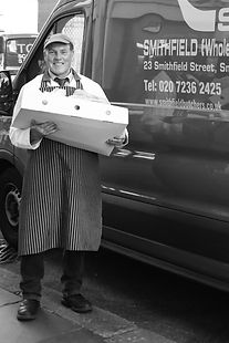 Butchers in London, Smithfield, UK, Whol