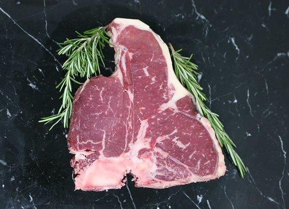 Beef T/Bone Steak, 400-450g, UK grass fed.