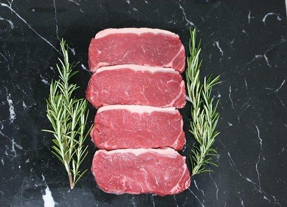 Beef, Sirloin steaks, UK grass fed, 8 x 250g