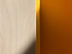 Birch Plywood and Yellow Steel