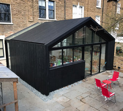 Charred timber extension