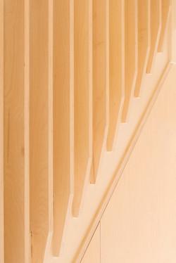 Plywood stair