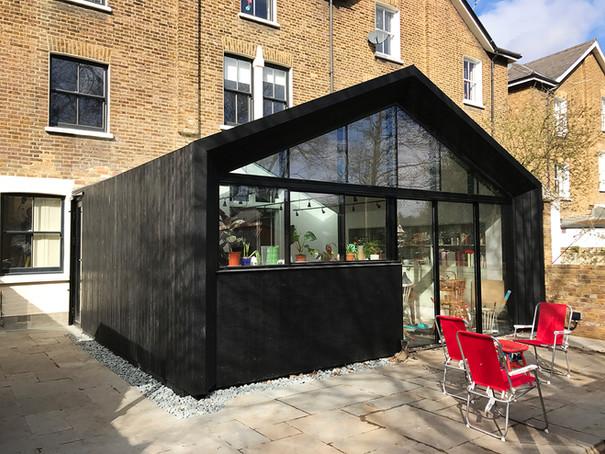 Charred Timber Extension / Tyrwhitt Road, London, SE4