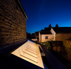 Extension roof glass