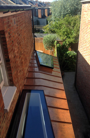 Bronzed Copper Extension / Peploe Road, London, NW6