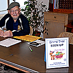 Rotarian signing up families