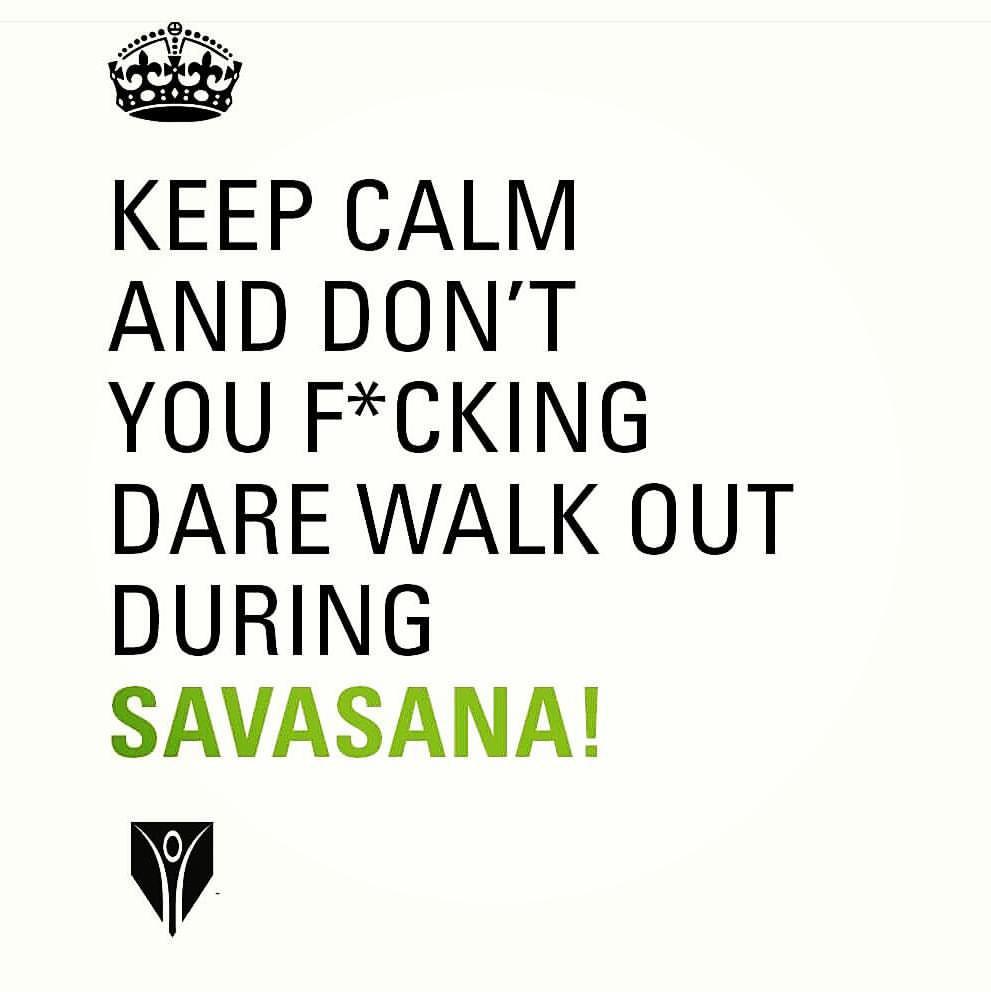 frase de humos de yoga savasana