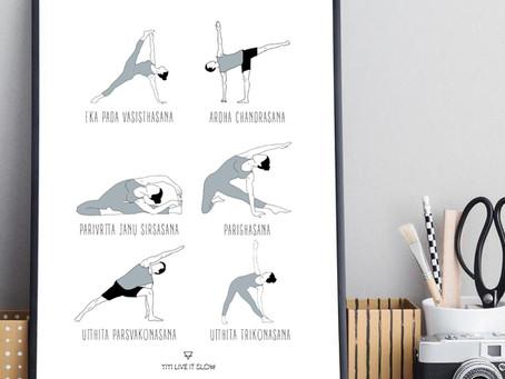 Asanas de flexión lateral.