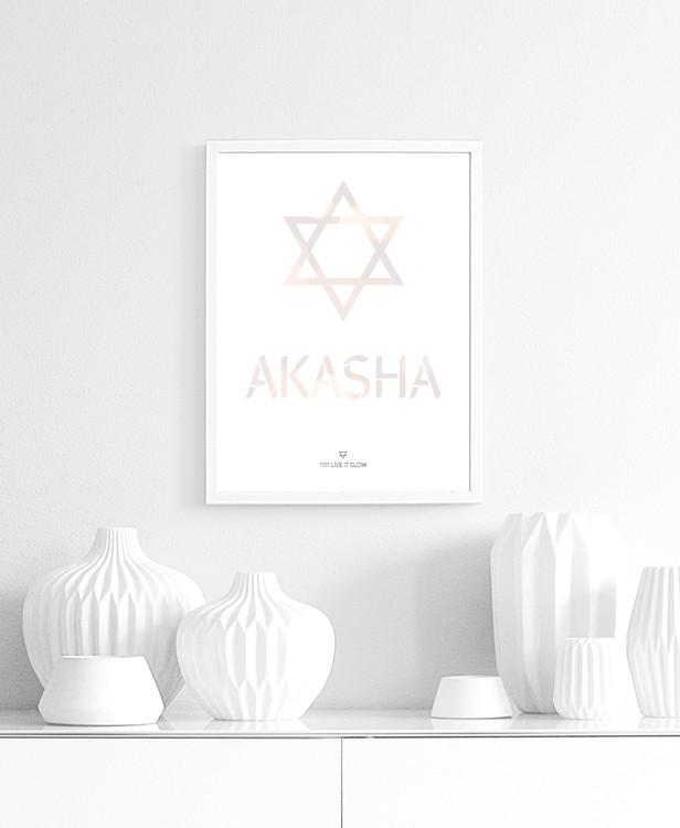 Lámina decoración yoga elemento akasha