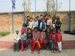 Brick kiln Students with other students
