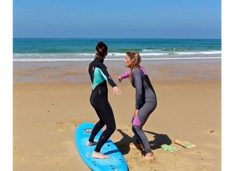Article sur les cours de surf dans le Pays Basque   (journal Sud-Ouest)