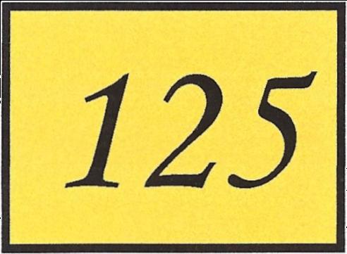 Number 125