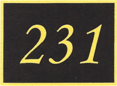 Number 231