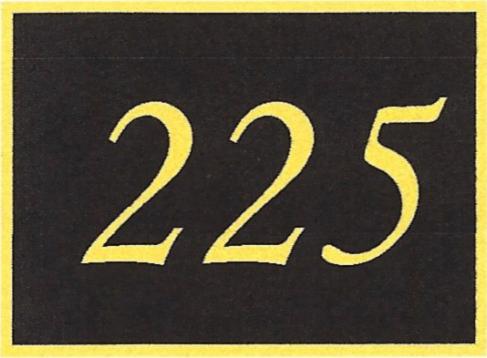 Number 225
