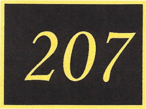 Number 207