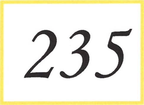 Number 235