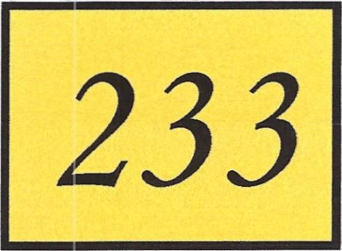 Number 233