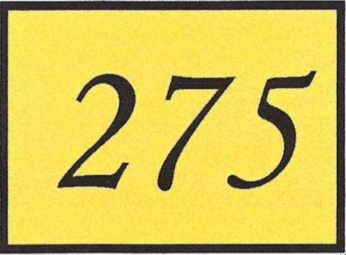 Number 275