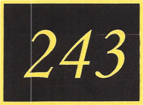 Number 243