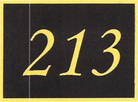 Number 213
