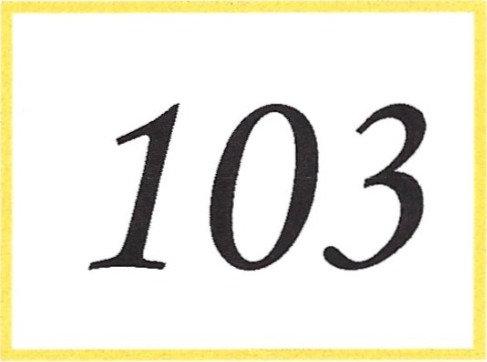 Number 103