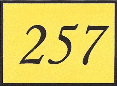 Number 257