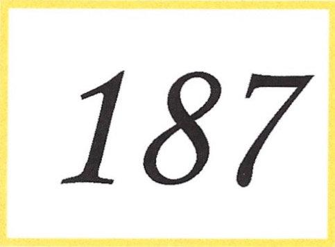 Number 187
