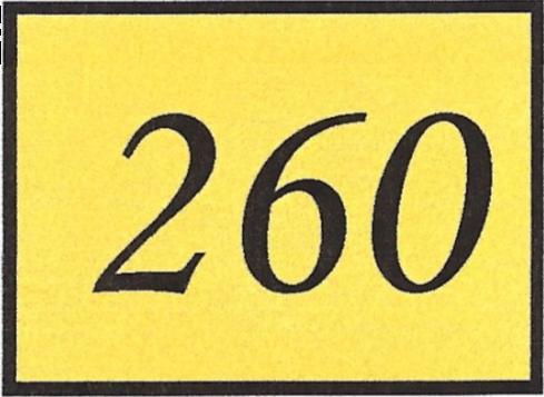 Number 260